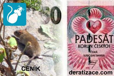 Kolik stojí hubení potkanů likvidace krys ceník deratizace Praha